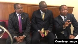 Pro Mthuli Ncube and Dr. John Mangudya in Parliament.