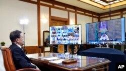 Presidenti i Koresë së Jugut gjatë telekonferencës