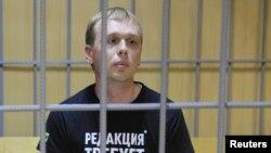 Журналист Иван Голунов во время заседания в Никулинском суде, Москва, 8 июня 2019 года