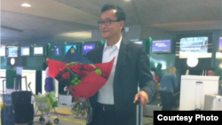 Opposition leader Sam Rainsy is expected to return to Cambodia on Friday, but he will so far not be allowed to run for office in the July 28 elections. Photo courtesy of Sam Rainsy.