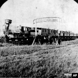 1866年在内布拉斯加地段建造铁路