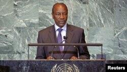 Guinea's President Alpha Conde. (file)