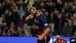 El uruguayo Luis Suárez estará ausente en los próximos dos partidos del Barcelona debido a la sanción recibida.