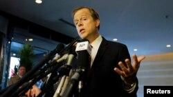 글린 데이비스 미 국무부 대북정책 특별대표가 21일 베이징에서 기자회견을 열고 미국