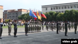 台灣雙十節前三軍表演先睹為快。(視頻截圖)