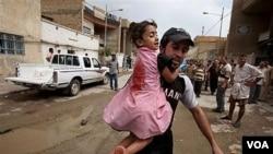 1,8 juta warga Irak harus mengungsi untuk menghindari kekerasan.