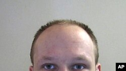 A file photo taken in 2009 and released by Norwegian police shows a portrait of Norwegian killer Anders Behring Breivik.