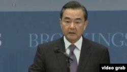 中国外交部长王毅 (美国之音视频截图)