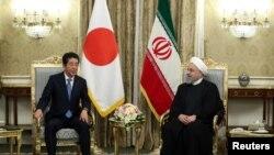 دیدار شینزو آبه نخست وزیر ژاپن با حسن روحانی رئیس جمهوری ایران در تهران - ۲۲ خرداد ۱۳۹۸