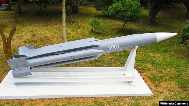 Tên lửa Hùng Phong 3 được trưng bày tại Chengkungling.