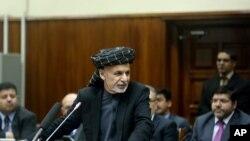 سخنرانی اشرف غنی رئیس جمهوری افغانستان در پارلمان افغانستان برای معرفی اعضای کابینه - ۳۰ دی ۱۳۹۳