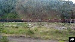 乌兰乌德附近的西伯利亚铁路
