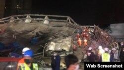 O colapso do hotel começou às 19h30, no horário local, e 34 pessoas foram resgatadas.