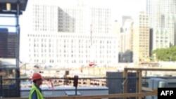 世贸大楼废墟工地上的工人(资料)