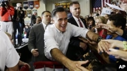 Republican presidential candidate Mitt Romney campaigns in Avon Lake, Ohio, Oct. 29, 2012.