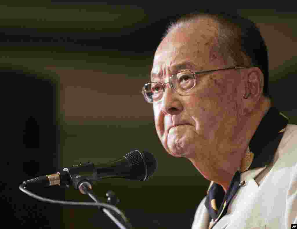 Former Hawaii Senator. Daniel Inouye, picured in 2012.