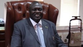 South Sudanese Vice President Riek Machar, shown here in his office in Juba, is leading the country's reconciliation project.