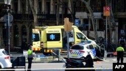 Cenário do incidente em Barcelona