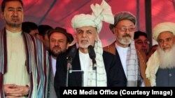 President Ghani Eid Day. (File)