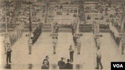 1965 წლის ევრობასკეტის გახსნა თბილისის სპორტის სასახლეში