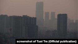 Polusi udara di Hanoi, Vietnam termasuk parah dan salah satu yang terburuk di dunia (foto: dok).
