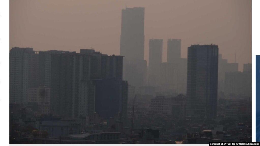 Ảnh về ô nhiễm không khí ở Hà Nội hôm 30/9/2019.