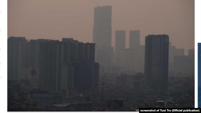 Chất lượng không khí ở Hà Nội.