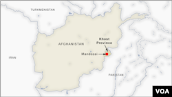Letak Mandozai di provinsi Khost, Afghanistan.