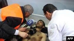 Пострадавший от взрыва в Дамаске 6 января 2012г.