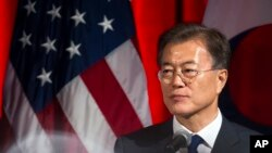Le président sud-coréen Moon Jae-In à Washington, 28 juin 2017.