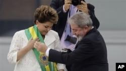 巴西第一位女總統正式上任。
