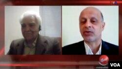 ناصر زرافشان حقوقدان بر تحریم انتخابات تاکید داشت و اکبر گنجی از مشارکت اعتراضی دفاع کرد.