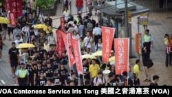 學民思潮、浸大社工等學生組織參與六四遊行
