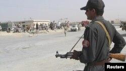 Lính Pakistan canh gác ở biên giới Pakistani-Afghanistan.