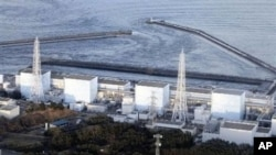 Fukushima Daiichi power plant's Unit 1 is seen in Okumamachi, Fukushima prefecture, Japan, March 11, 2011