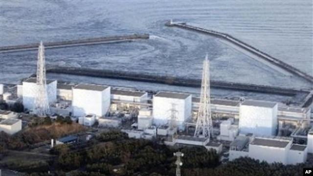 Fukushima Daiichi power plant's Unit 1 is seen in Okumamachi, Fukushima prefecture, Japan, March 11, 2011