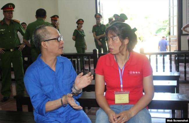 Ông Nguyễn Văn Nghiêm và vợ Phạm Thị Xuân, ngày 23/06/2020. Photo CAND.