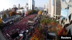 Demonstracije protiv predsednice Južne Koreje u Seulu, 12. novembar 2016.