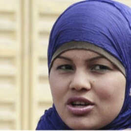 Activist Samira Ibrahim is pictured after the verdict was read at the military court in Cairo March 11, 2012.