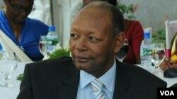 L'ancien président burundais Jean-Baptiste Bagaza le 28 décembre 2013 lors d'une cérémonie de mariage d'un membre de sa famille à Bujumbura.