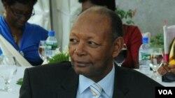 L'ancien président burundais Jean-Baptiste Bagaza le 28 décembre 2013 dans une cérémonie de mariage d'un membre de sa famille à Bujumbura.