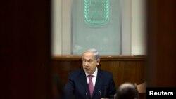 Izraelski premijer Benjamin Netanjahu na današnjem sastanku kabineta u Jerusalimu