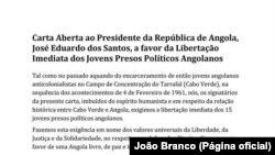 Carta a José Eduardo dos Santos