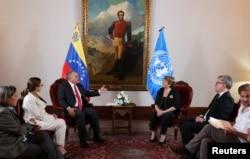 Michelle Bachelet se reunió el viernes 21 de junio de 2019 con el líder de la chavista Asamblea Nacional Constituyente de Venezuela, Diosdado Cabello.