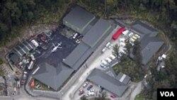 Tambang batubara Sungai Pike di Selandia Baru, lokasi terjadinya ledakan yang menewaskan 29 pekerja.
