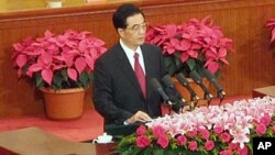 Pengadilan Spanyol setuju untuk mendengar gugatan hukum terhadap mantan Presiden China Hu Jintao (foto: dok).