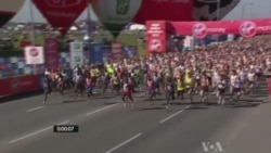 London Marathon Runners in Solidarity With Boston