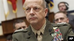 Marine Gen. John Allen, the top US commander in Afghanistan testifies on Capitol Hill in Washington March 20, 2012