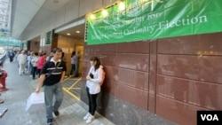 香港區議會選舉受反送中運動影響投票率及投票人數創歷史新高。(攝影: 美國之音湯惠芸)