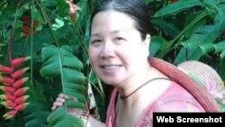 중국에 억류된 미국인 여성 사업가 샌디 판 길리스 씨의 억류 전 모습. (자료사진)